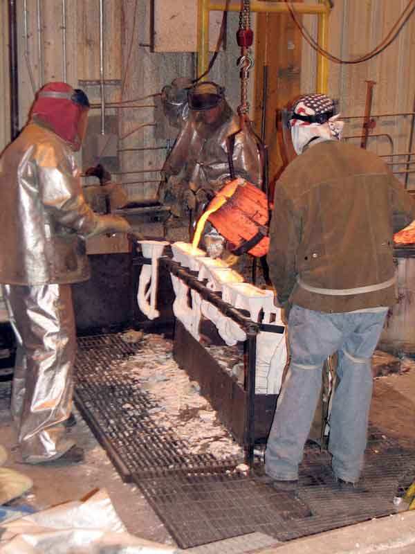 Bronze Pour at Frostad Atelier